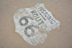 tecken för 66 route Arkivbilder