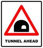 Tecken för Ryssland tunnel framåt Arkivfoton