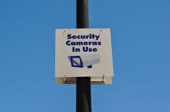 Tecken för säkerhetskamera Arkivbild