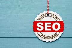 Tecken för sökandemotorOptimization Royaltyfri Bild