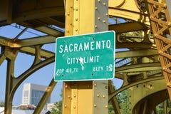 Tecken för Sacramento stadsgräns royaltyfri bild