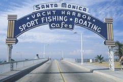 Tecken för Santa Monica yachthamn Royaltyfria Foton