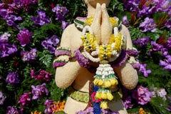 Tecken för `-Sawasdee ` från Chiang Mai Flower Festival Fotografering för Bildbyråer