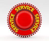 tecken för service 3d Arkivfoto