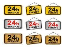 tecken för service 24h Royaltyfri Foto