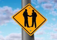 tecken för shake för möte för hand för överenskommelseaffärsavtal Arkivbild