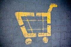 Tecken för shoppingvagn Royaltyfri Foto