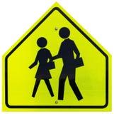 Tecken för skolaCrossing Fotografering för Bildbyråer