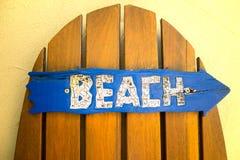 Tecken för strand hitåt Royaltyfri Bild