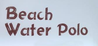 Tecken för strandvattenpolo fotografering för bildbyråer