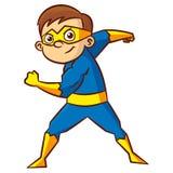 Tecken för Superheropojketecknad film royaltyfri illustrationer