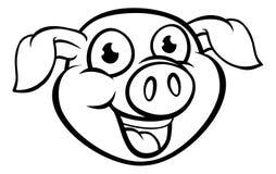 Tecken för svinmaskottecknad film Royaltyfri Foto
