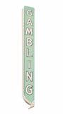 Tecken för tappningLas Vegas dobbleri med Clippingbanan Royaltyfri Fotografi
