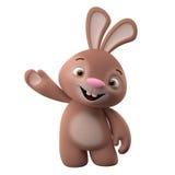 tecken för tecknad film 3D, easter kanin Arkivbild