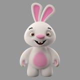 tecken för tecknad film 3D, easter kanin Fotografering för Bildbyråer