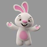 tecken för tecknad film 3D, easter kanin Arkivbilder