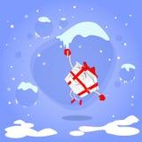 Tecken för tecknad film för julklapp för gåvaask stock illustrationer
