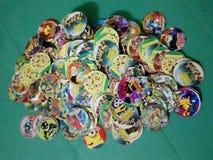 Tecken för tecknad film för samling för Pogs leksakungar Royaltyfria Bilder