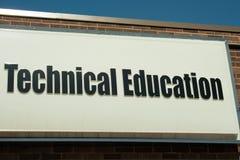 Tecken för teknisk utbildning Fotografering för Bildbyråer