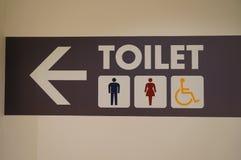 Tecken för toalett Arkivbilder