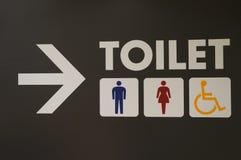Tecken för toalett Arkivfoto