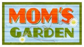 Tecken för trä för trädgård för mamma` s royaltyfria foton