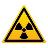 Tecken för triangel för utstrålningsfara gult royaltyfri illustrationer