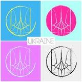 Tecken för Ukraina symbolfred arkivbild