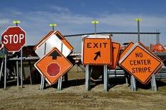 Tecken för vägkonstruktion Royaltyfria Bilder