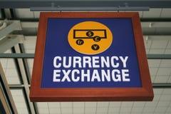 tecken för valutautbyte Royaltyfri Fotografi
