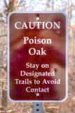 Tecken för varningsgiftek på höglands- Glen Park Utah arkivbild