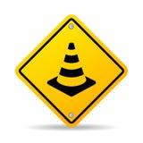 Tecken för vektor för kotte för vägsäkerhet stock illustrationer