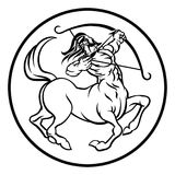 Tecken för zodiak för horoskopSkyttenkentaur Fotografering för Bildbyråer