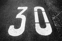 tecken för 30 zon Royaltyfri Fotografi