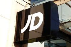 Tecken för JD-sportlogo Royaltyfria Bilder