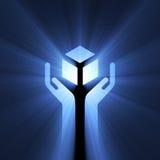 tecken för lampa för omsorgssignalljushandtag Royaltyfria Foton