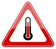 Tecken för mycket varm varning Royaltyfri Foto