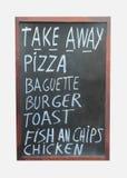 Tecken för Takeaway mat Royaltyfri Bild