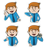 Tecken fyra royaltyfri illustrationer