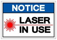 Tecken i bruk för symbol för meddelandelaser, vektorillustration, isolat på den vita bakgrundsetiketten EPS10 stock illustrationer