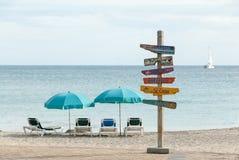 Tecken II för karibiska öar Arkivbild