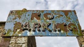 Tecken: Ingen parkering Fotografering för Bildbyråer