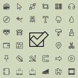 tecken kontrollerad översiktssymbol Detaljerad uppsättning av den minimalistic linjen symboler Högvärdig grafisk design En av sam Royaltyfri Fotografi