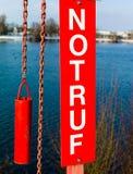 Tecken med bokstävernödläge Fotografering för Bildbyråer