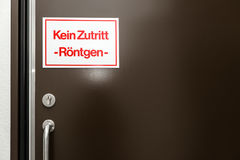 Tecken med tyska ord Fotografering för Bildbyråer