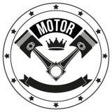 Tecken och etikett för tappningmotorklubba Royaltyfri Foto