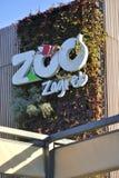 Tecken och logo av den Zagreb zoo royaltyfria bilder
