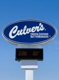 Tecken och logo för restaurang för Culver ` s royaltyfri fotografi
