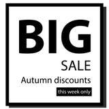 Tecken på återförsäljning på en svartvit bakgrund stock illustrationer