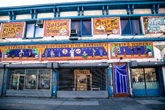 Tecken på Coney Island Arkivbild